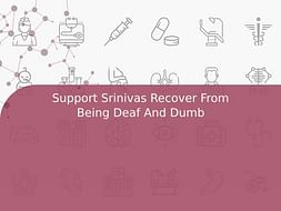 Support Srinivas Recover From Being Deaf And Dumb
