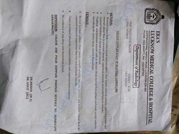 Lukhnow medicla college certificate