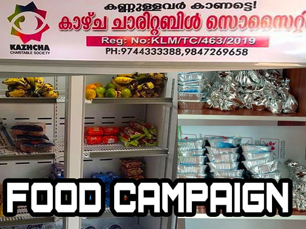 Food for the hungry men through Open Fridge