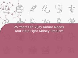 25 Years Old Vijay Kumar Needs Your Help Fight Kidney Problem