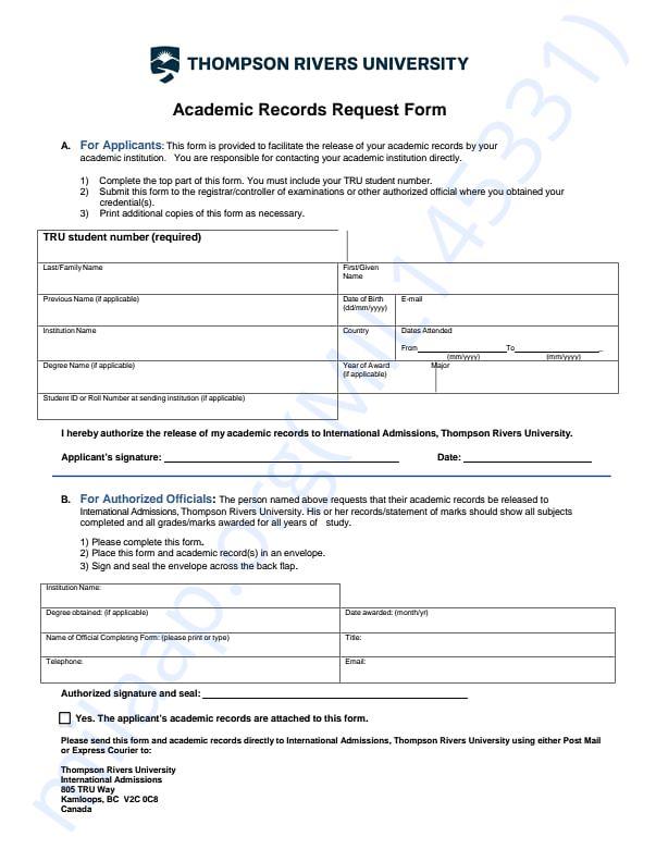 University documents