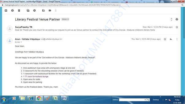 venue partner approval letter