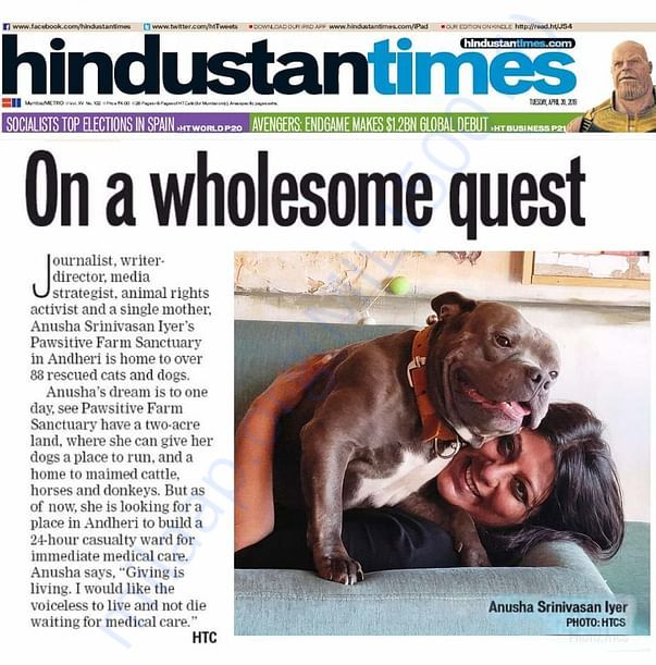 Article in Hindustan Times