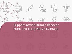 Support Arvind Kumar Recover From Left Lung Nerve Damage