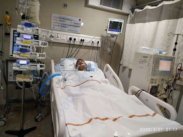 My husband pic in ICU