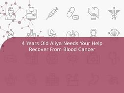 4 Years Old Aliya Needs Your Help Recover From Blood Cancer