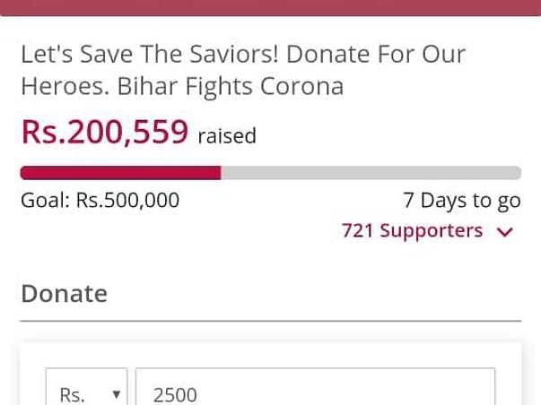 Let's Save The Saviors! Donate For Our Heroes. Bihar Fights Corona