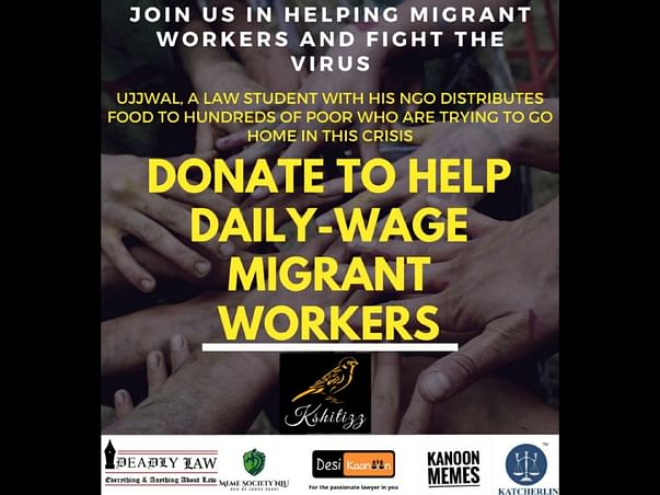 Donate to help daily wage  workers from Bihar & Odisha.