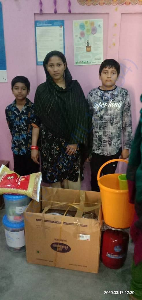 Sewa Members provided ration supply to few of the families