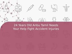 24 Years Old Anbu Tamil Needs Your Help Fight Accident Injuries