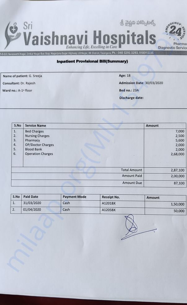 200000Rs paid