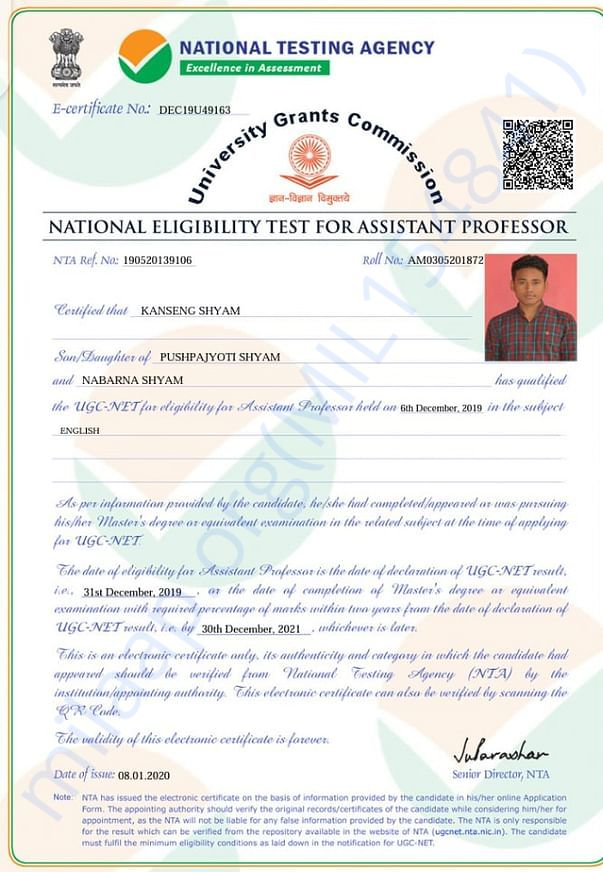 NET QUALIFIED CERTIFICATE