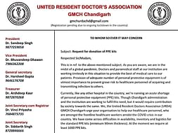 PPE for Resident Doctors of GMCH Chandigarh