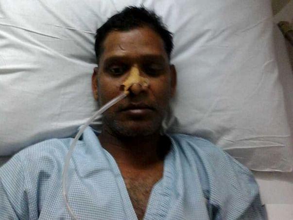 47 Years Old Laxman  Kumar Sharma Needs Your Help Fight Paralysis