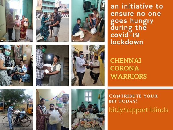 Help Daily Wager and Disabled Families hit by Corona Virus in Chennai