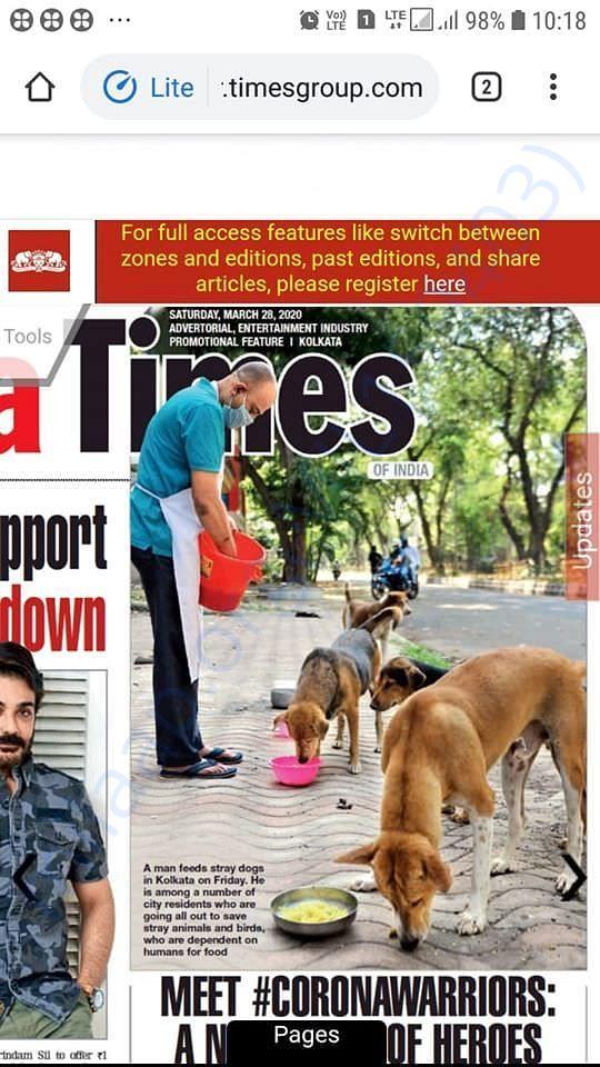 Article at TOI Kolkata