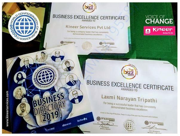 Biz business excellence award