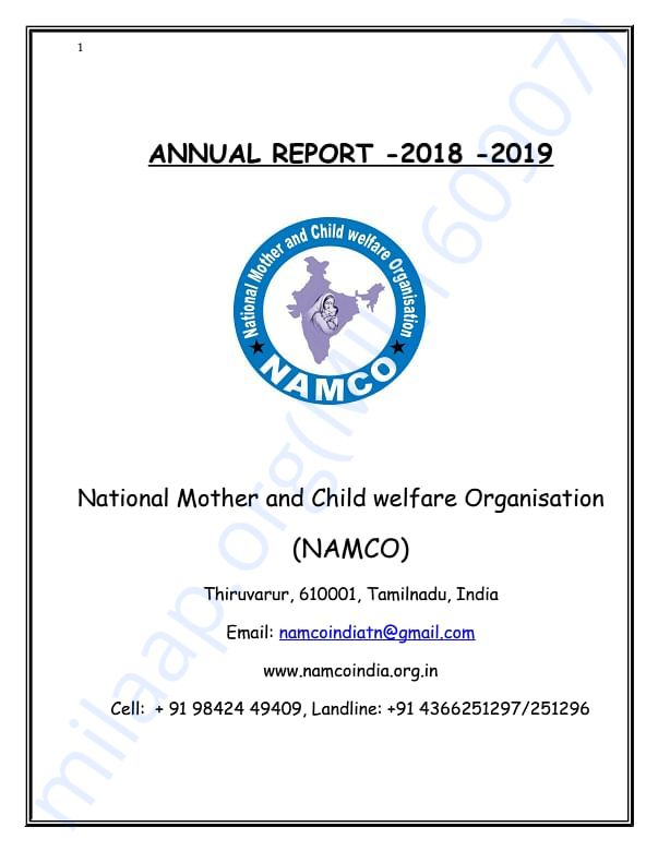 ANNUAL REPORT OF NAMCO
