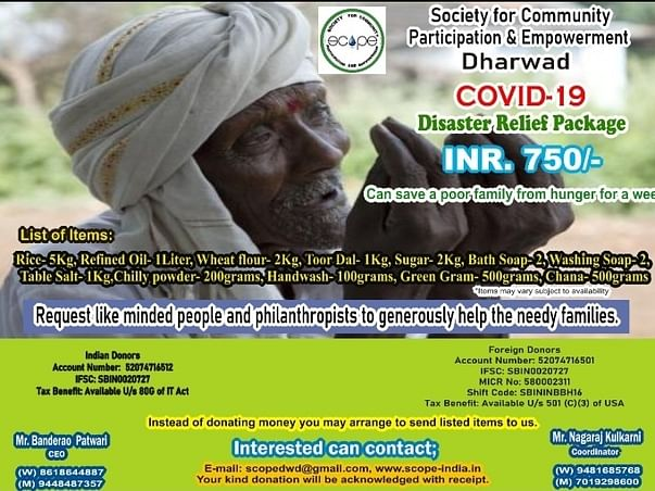 COVID 19 Relief-Save poor from hunger