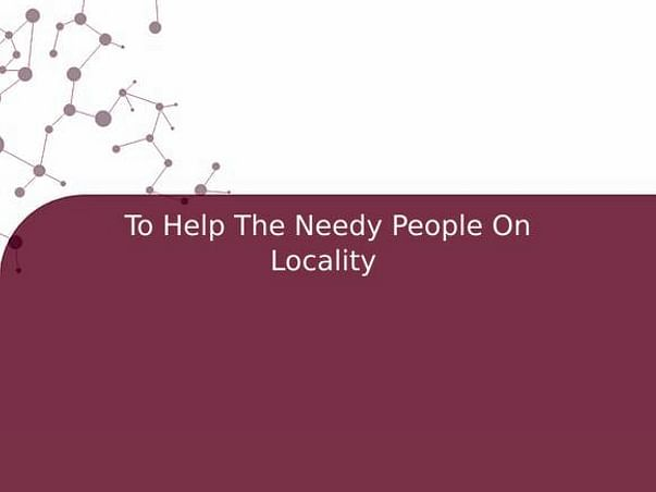 To Help The Needy People On Locality