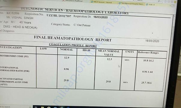 Heamatopathology Report