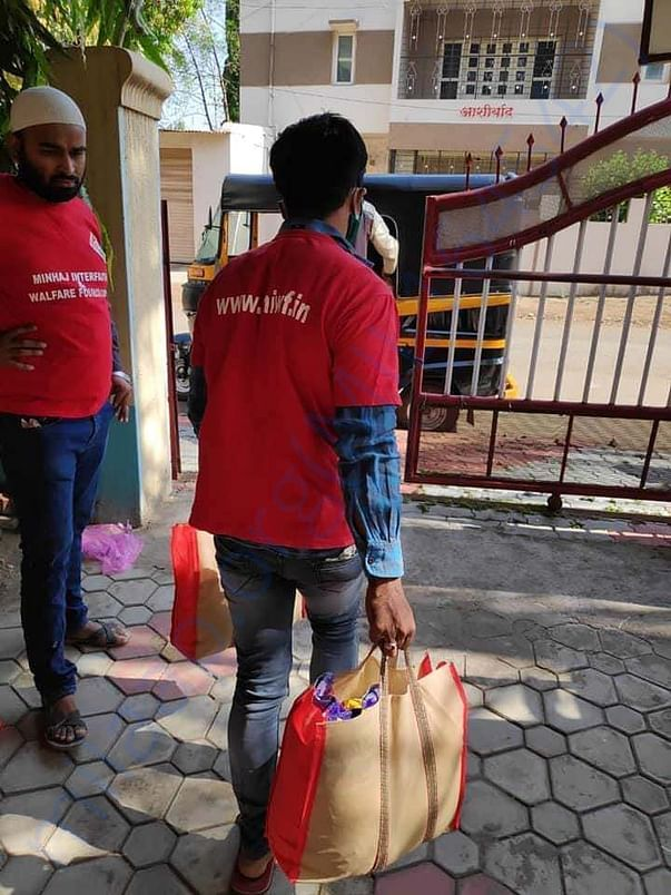 Door delivery service for the needy people from MIWF @ Miraj,MH