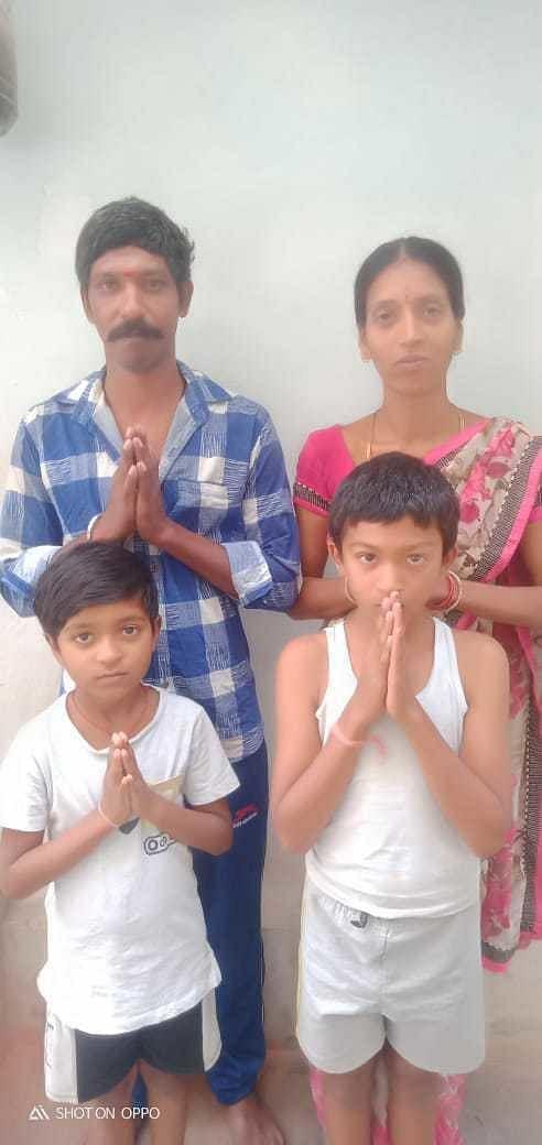 Buruggu Bhaskar's Family