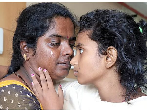Single mother, who works as a coolie, is struggling to save daughter