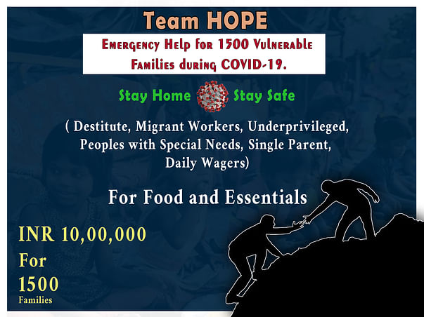 Team HOPE:Emergency Help for 1500 Vulnerable Families during COVID-19.