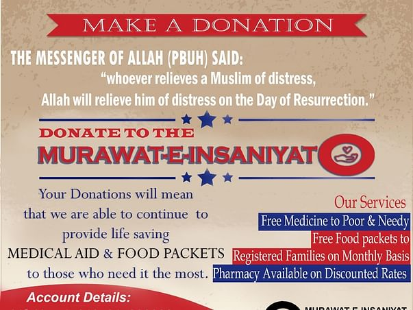 Support Murawat e Insaniyat To Help Needy People Of Kashmir