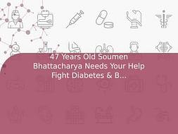 47 Years Old Soumen Bhattacharya Needs Your Help Fight Diabetes & Blood Pressure