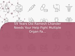 59 Years Old Ramesh Chander Needs Your Help Fight Multiple Organ Failure