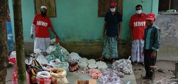 21 families in Levarputa village of Assam state received Helpfeedpacks