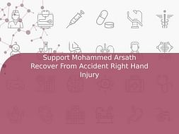 Support Mohammed Arsath Recover From Accident Right Hand Injury