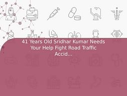 41 Years Old Sridhar Kumar Needs Your Help Fight Road Traffic Accident (Multiple Injury)