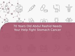70 Years Old Abdul Rashid Needs Your Help Fight Stomach Cancer