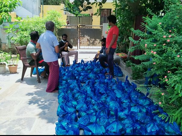 Help to Migrant workers who are walking to there places from AP