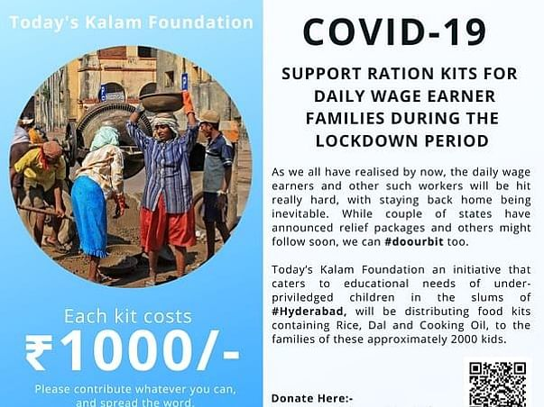 Support Initiative for Rations to Daily Wagers during COVID Lockdown