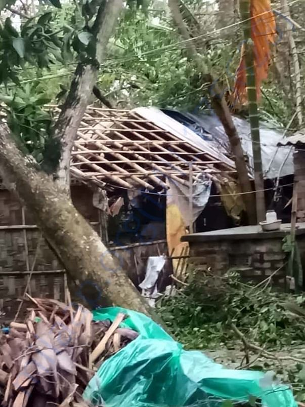Roofs destroyed by strong winds