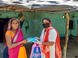 HELP FOR DISTRIBUTION SANITARY PADS FOR VILLAGER WOMEN'S THIS PANDEMIC