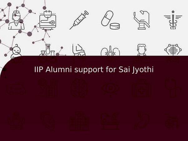 IIP Alumni support for Sai Jyothi
