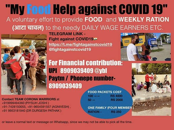 HELP THE NEEDY WITH FOOD AND FIGHT STRONG AGAINST COVID-19