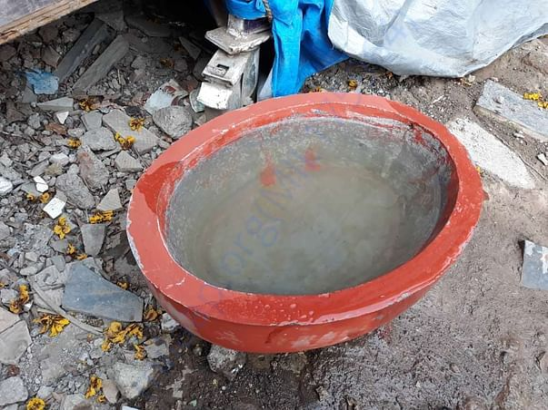 Water bowls placed for them
