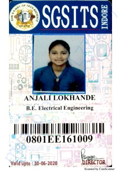 This is my college id. I am a student of final year