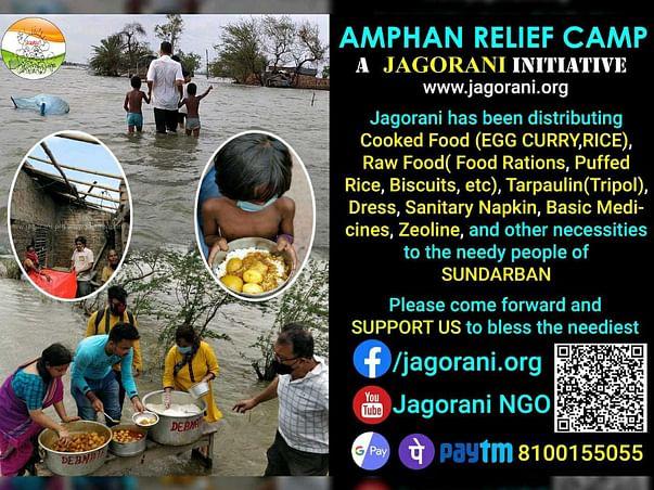 AMPHAN RELIEF CAMP, A JAGORANI INITIATIVE