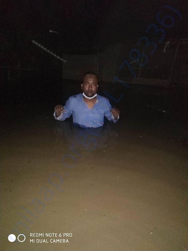 its an image of a flood victim with me