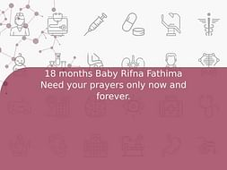 18 months Baby Rifna Fathima Need your prayers only now and forever.