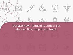 Donate Now!  Khushi is critical but she can live, only if you help!!