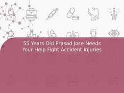 55 Years Old Prasad Jose Needs Your Help Fight Accident Injuries