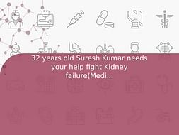 32 years old Suresh Kumar needs your help fight Kidney failure(Medication)